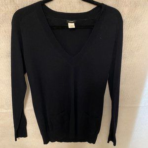J. Crew Navy Merino Wool Lng Sleeve Sweater_Size M